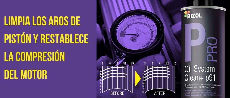 Compresión del motor por cambio de aceite