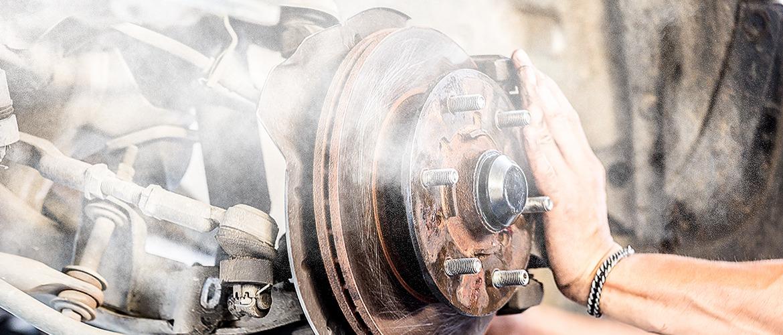 brake cleaner dust