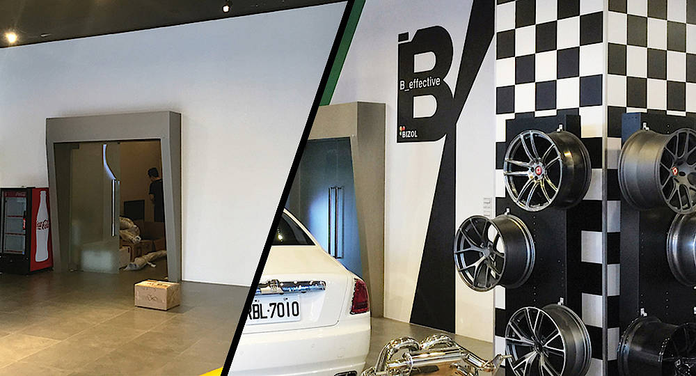 32bae760b1850f The premium Workshop focused on the Maintenance of the Racing Cars. BIZOL  Branding Design recovers the dynamic lines and shapes of the racing sport  to ...