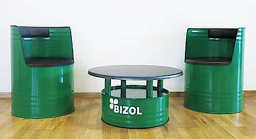 BIZOL Barrel furniture Set - The perfect eye-catcher
