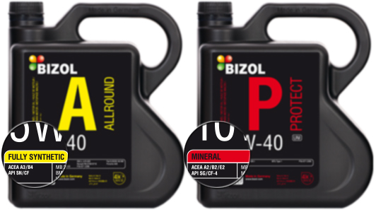German quality standards for synthetic oils bizol for Difference between synthetic and conventional motor oil